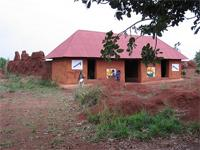 Royal Bas-Reliefs of Abomey: recently restored Auvent of Houégbadja with bas-reliefs created by artist Cyprien Tokoudagba