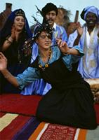 A ritual dance of love performed by Hassania women for the benefit of men, Mauritania