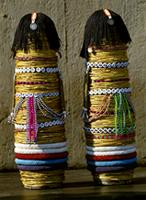 Beaded dolls made by Pedi girls, South Africa