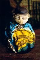 Small wooden image of a deceased Fon twin, Benin