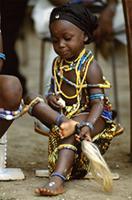 A young Krobo girl from Ghana being initiated into womanhood, Ghana