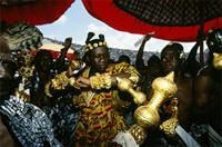 Rulers from all parts of Ghana attend the jubilee wearing lavish dress and regalia, Ghana