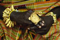 The mud fish ring refers to the nourishment and protection offered by the Ashanti chief to his subjects, Ghana
