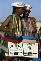 Two Ndebele initiates attend their Iqhude coming out ceremony, South Africa