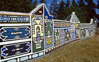 Ndzundza palace painted with designs learned during Ndebele girlhood initiations, South Africa