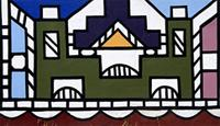 Ndzundza palace painted with designs learned during Ndebele girl-hood initiations, South Africa