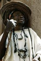 A Hogon guardian who assists the Hogon in practical duties and helps him to prepare fetishes on ritual occasions, Mali