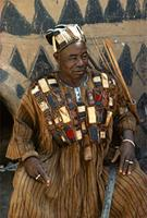 Chief Atoge Zangwio, a Kasena village chief, in the batakari worn for his installation, Ghana