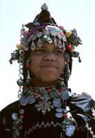 Haratine woman from Morocco in ceremonial dress