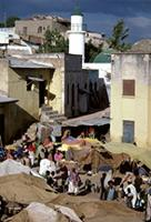 The medieval walled city of Harar, Ethiopia