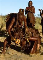 Possessed Himba woman being healed through exorcism, Namibia