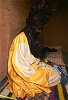 Chief of the east Bianou group, present at the Bianou festival, Tuareg people, Niger