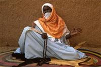 The most learned of the city's holy men, at the Bianou festival, Niger