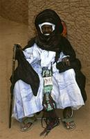 Chief of the west Bianou group at Bianou festival, Tuareg people, Niger