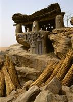 Toguna house, the meeting place for male Dogon dancers, Mali