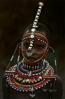 Adorned Maasai girl