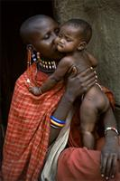 Maasai mother with baby.