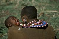 Maasai mother with baby