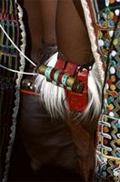 Woodabe nomads wear colourful ornaments at Geerewol celebrations, Niger.