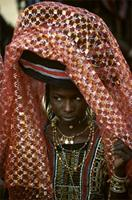Woodabe lady adorned for Geerewol ceremony, Niger