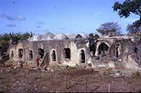 Kilwa Kisiwani: South part exterior. From South West