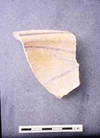 Kilwa Kisiwani: Pottery. Black and Yellow sherd ZLL (3a) pit