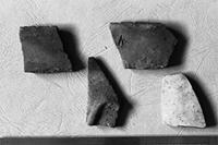 Aksum - Finds - 2 Bowl rim/body fragments, 1 pot fragment & 1 body fragment of an imported closed vessel