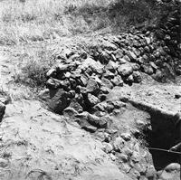 Excavated terrace wall. Probably terrace platform A5, 1966