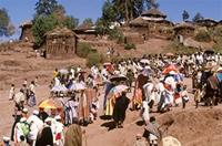 View of procession through Lalibela town.