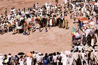 The procession in Lalibela Town.