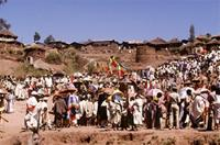 The Timket procession in Lalibela Town.