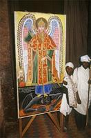 Painting in a Lalibela church.