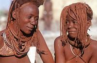 Himba woman and daughter.