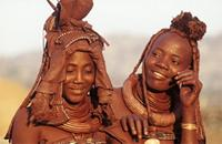 Himba bride with friend.