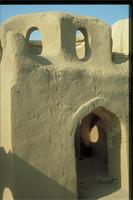 Aswan, As Sa'id, Egypt: 1000-year old mud brick Nubian tomb, detail