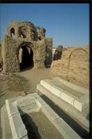 Aswan, As Sa'id, Egypt: Nubian tomb in a Muslim cemetery