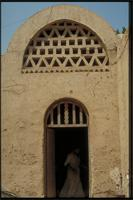 Garagus Village, Egypt: village on the East Bank constructed by architect Hassan Fathy, detail of doorway