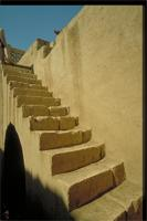 New Gourna, Egypt: architect Hassan Fathy's home on the West Bank, detail of stairs