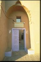 New Gourna, Egypt: mosque designed by architect Hassan Fathy, detail of doorway