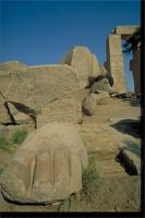 Luxor, As Sa'id, Egypt: Ramesseum, rock columns