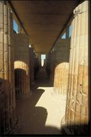 Saqqara, Egypt: Hypostyle Hall, detail, part of King Zoser's funerary complex