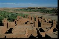 Aït Ben Haddou, Morocco: panoramic view and detail of design