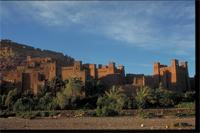 Aït Ben Haddou, Morocco: view and detail of earthen design