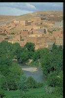 Boumalne du Dades, Morocco: panoramic view of town