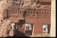 Telouet Kasbah, Morocco: exterior view and detail of deterioration