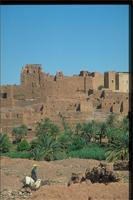 Tifoultoute Kasbah, Morocco: panoramic view from the road