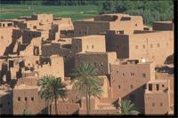 Tineghir Kasbah, Morocco: view of the surrounding villages