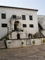 Photograph of the Main Court with main house, Elmina, Ghana