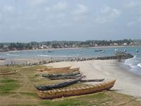 Photograph of the entrance to the Lagoon, Elmina, Ghana