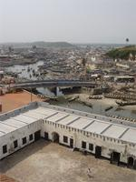 Image of the service yard, Elmina Bridge and the Lagoon, Ghana